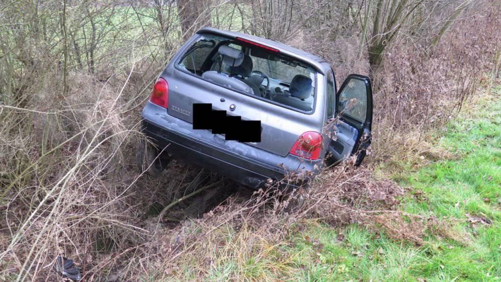 Führerlos: Der unverletzte Lenker stieg nach dem Selbstunfall aus und ging nach Hause.