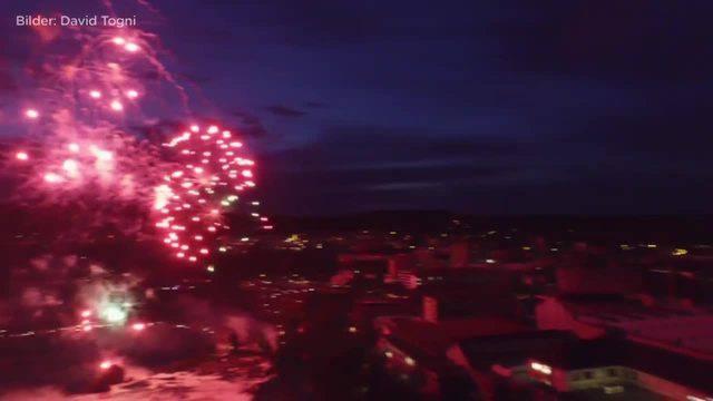 Impressionen vom Feuerwerk in Neuhausen