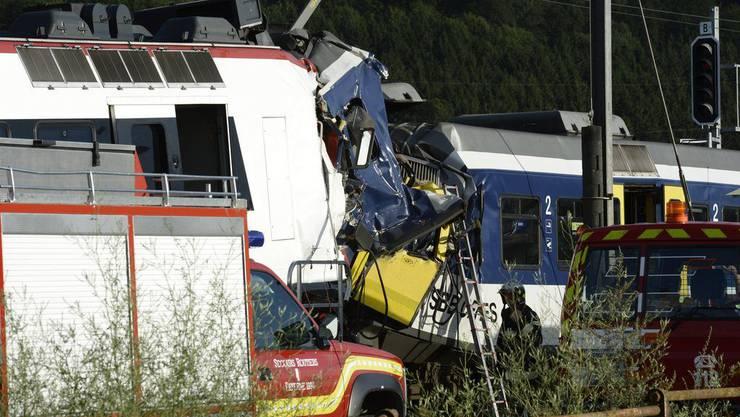 Am Montagabend kollidierten bei Granges-près-Marnand VD zwei SBB-Züge.