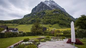 Die Bergwelt zum Greifen nah: Ausblick von This Jennys Terrasse.