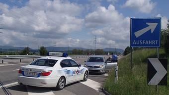 Polizei stoppt Falschfahrer auf der A1 bei Muhen.