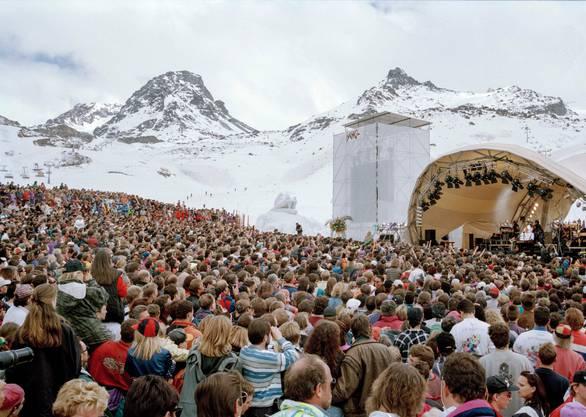 In Ischgl gab es schon früher Grossveranstaltungen im Skigebiet – hier zum Beispiel ein Konzert von Tina Turner.