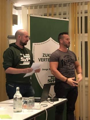 NR-Kandidat Sandro Strässle Junge SVP Liste 32 mit Hofer Ralph