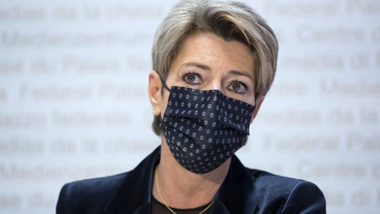 Karin Keller-Sutter versicherte, dass die Rolle des Staates bei der E-ID eine starke sein wird.