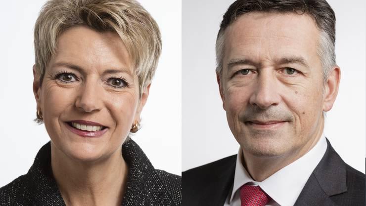 Nachfolge für FDP-Bundesrat Johann Schneider-Ammann: Karin Keller-Sutter, Hans Wicki.