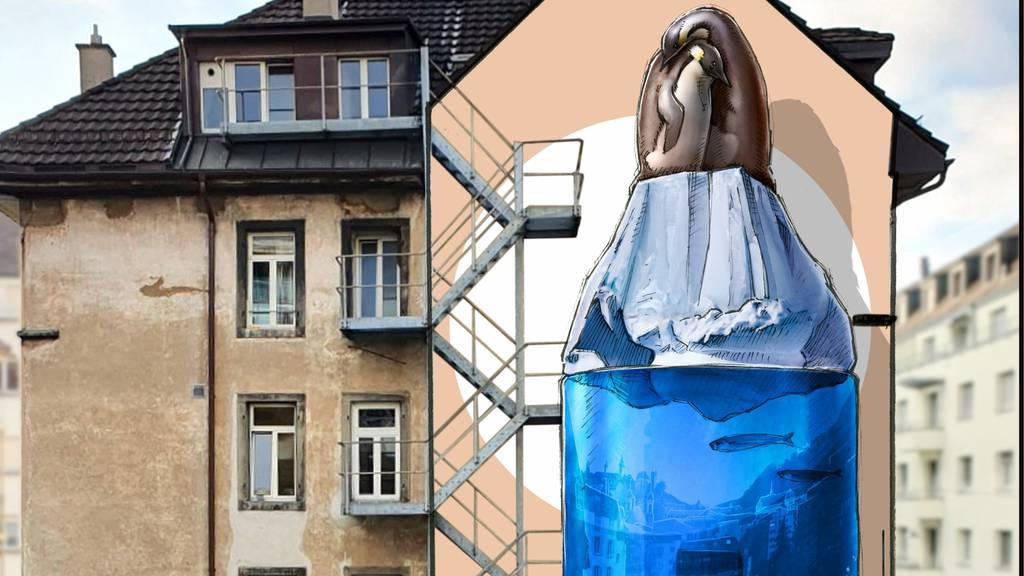 Street-Art-Wandbild soll in Luzern auf Klimaschutz aufmerksam machen