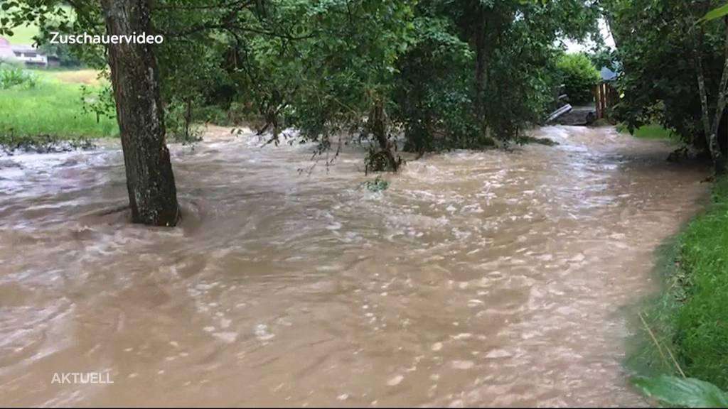 Erneute Unwetterwarnung: Es drohen lokale Überschwemmungen und Hagelschäden