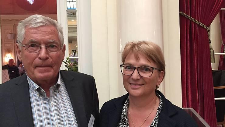 Mutig dem Axt-Täter entgegengestellt: Das Ehepaar Beatrix und  Wendelin Marthy.