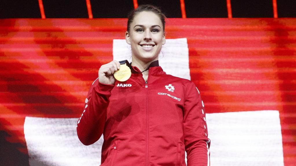 Giulia Steingruber riskierte alles und holte am Sprung ihr viertes EM-Gold nach 2013, 2014 und 2016.