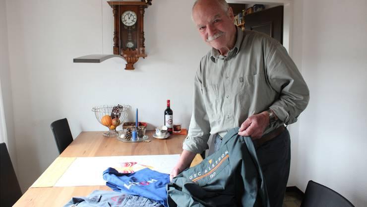 Otto Gutscher aus Oberentfelden (76) hat sein ganzes Arbeitsleben lang für das gleiche Unternehmen gearbeitet, aber fünf Firmenbesitzer erlebt. ksc