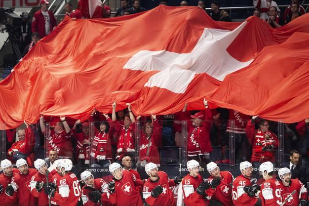 Die Schweizer Fans hatten so richtig etwas zu feiern.