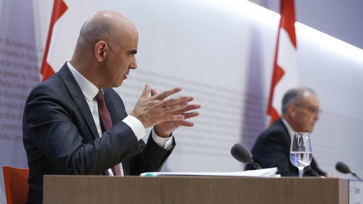 Bundesrat Berset stellte weitere Lockerungsschritte in Aussicht.