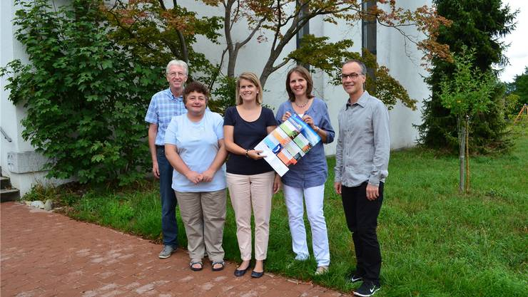 v.l.: Hans Schärer, Erika Kaiser, Patricia Walter, Franziska Haefeli, Reto Bichsel (Projektverantwortlicher).