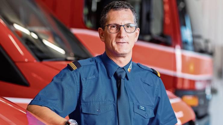 Daniel Burger am letzten Tag als Kommandant – der Feuerwehr bleibt er erhalten.
