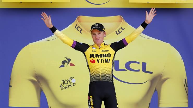 Weiterhin in Gelb unterwegs: Der Niederländer Mike Teunissen vom Team Jumbo-Visma.