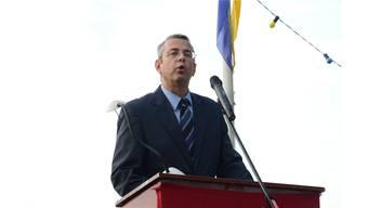In Schlieren spricht traditionell der Parlamentspräsident, 2014 ist dies Rolf Wegmüller (CVP).
