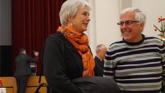 Steffi Abt und Erwin Wagenhofer haben das Thema Wohnen im Alter aufgerollt. sl
