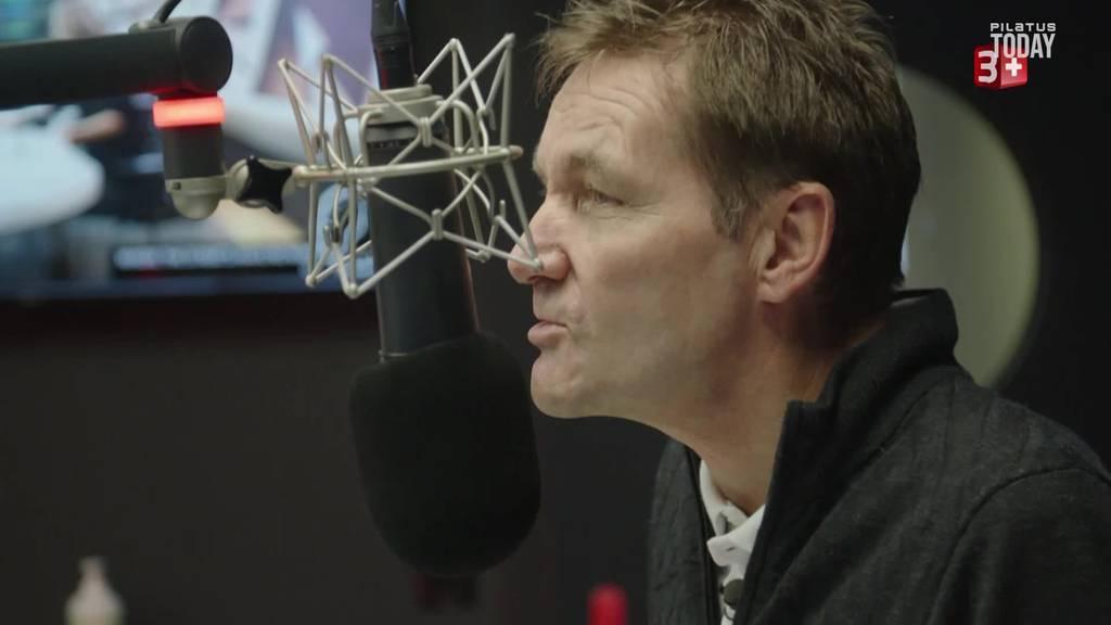 Daniel Bumann im Radio Pilatus Studio