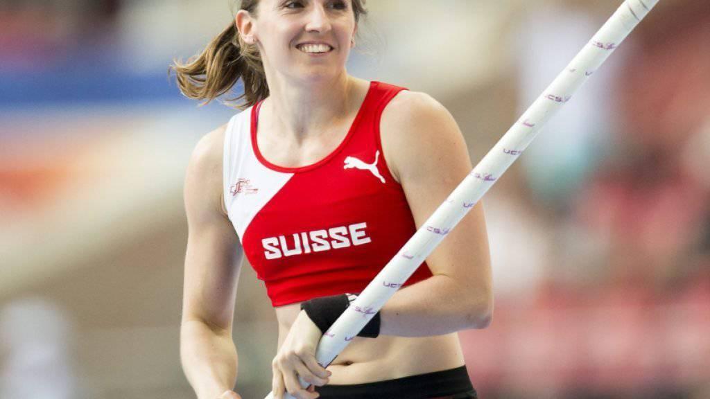 Nicole Büchler überspringt 4,72 m und gewinnt überlegen in Kuortane