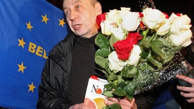Der Oppositionelle Politiker Andrej Sannikow am Samstagabend in Minsk