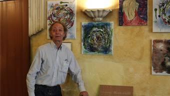 Rolf Reber hat zurzeit mit seinen Werken das «Baracoa» ausgeschmückt.