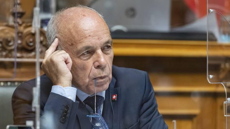 Ueli Maurer forderte im Ständerat eine hohe Ausgabendisziplin.