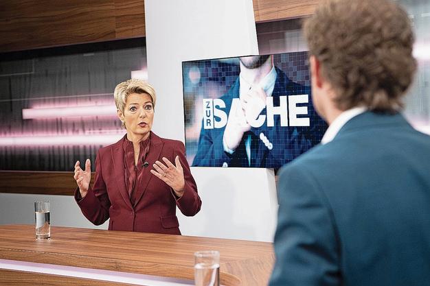 Spielt funktionsbedingt eine Nebenrolle: FDP-Bundesrätin Karin Keller-Sutter.