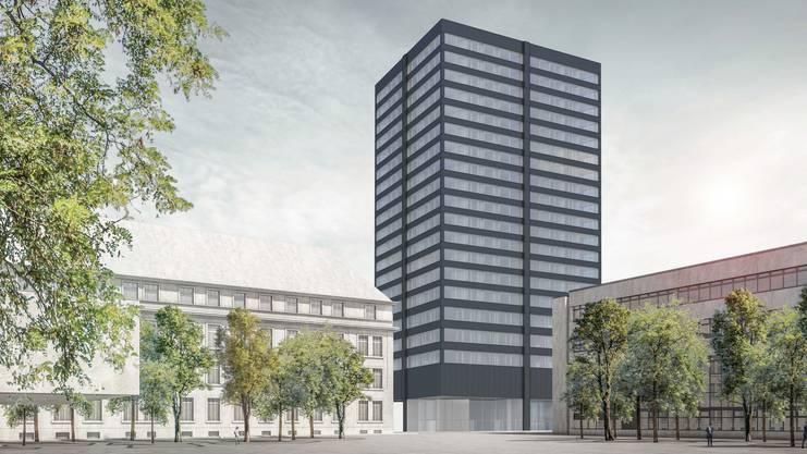 Der Wohnturm im ABB-Areal wird das grösste Wohnhaus der Stadt.