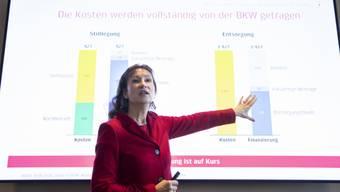 Sieht der Stilllegung des Atomkraftwerks Mühleberg zuversichtlich entgegen: BKW-Chefin Suzanne Thoma.