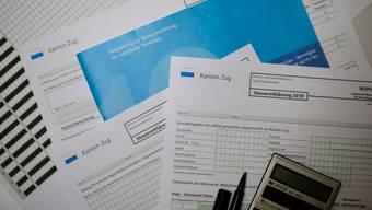 Sollen bald vollständig eingereicht werden können: Steuererklärung wie zum Beispiel jene im Kanton Zug. (Symbolbild)