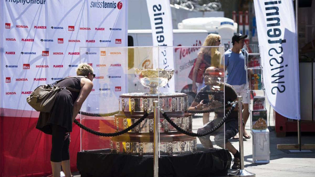 Davis-Cup-Pokal im Pilatusland