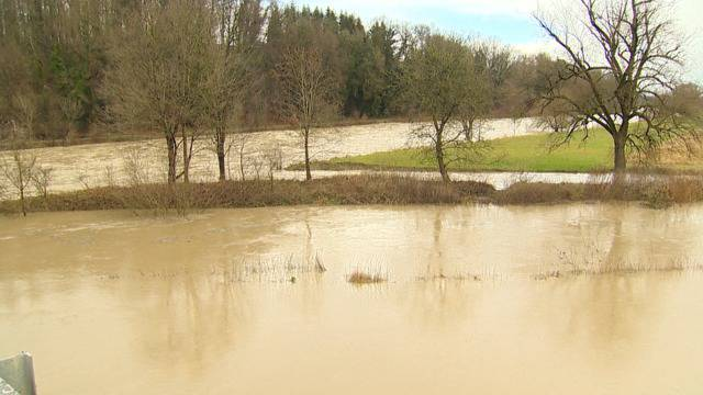 Achtung Hochwasser: Regen führt zu hohen Pegelständen in der Ostschweiz