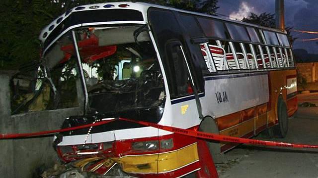 Der verunfallte Bus
