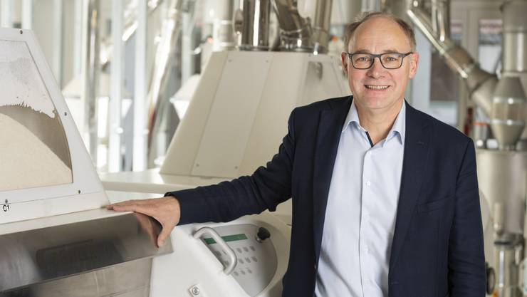 Hansjörg Knecht in der Mühle in Leibstadt. Als Gewerbler liegt sein Fokus in der Politik auf der Wirtschaft.