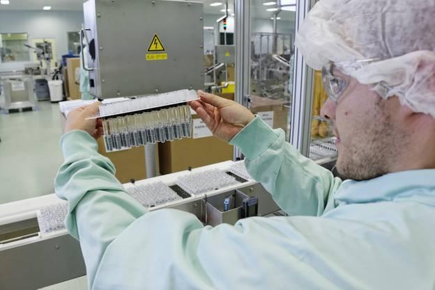 Impressionen aus dem Novartis-Werk in Stein.