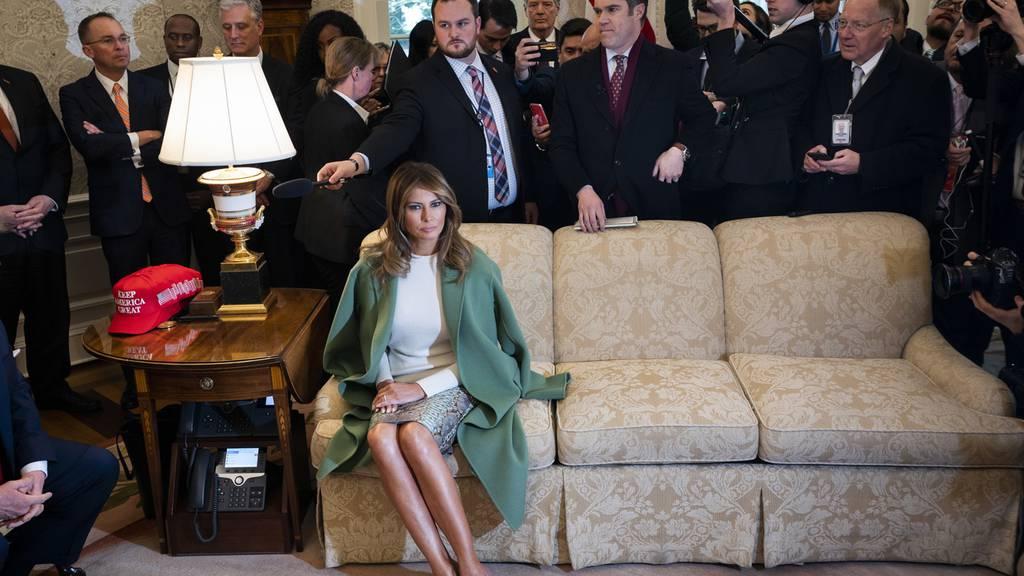 Melania Trump war von ihrer Arbeit als First Lady nicht sonderlich begeistert, sie sitzt oft weg vom Trubel.