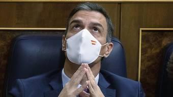 Pedro Sanchez, Ministerpräsident von Spanien, sitzt im Parlament. S Foto: Pablo Blazquez Dominguez/POOL Getty/dpa