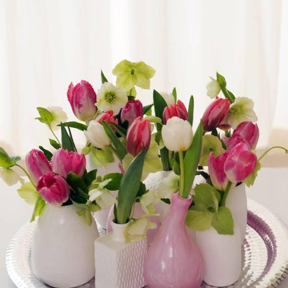 Die Tulpen können einzeln arrangiert werden.