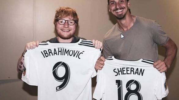 Zlatan Ibrahimovic am Ed Sheeran Konzert