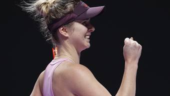 Jelina Switolina gewann auch die dritte Partie der Round Robin, wurde von der Amerikanerin Sofia Kenin aber hart gefordert