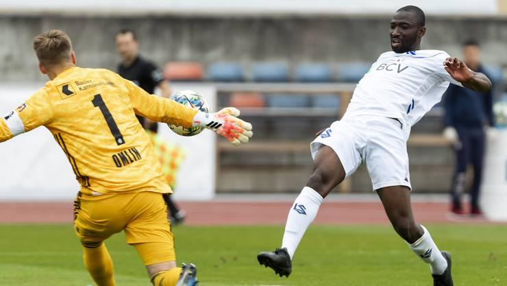 Jonas Omlin rettet den FCB gegen Lausanne mehrmals.