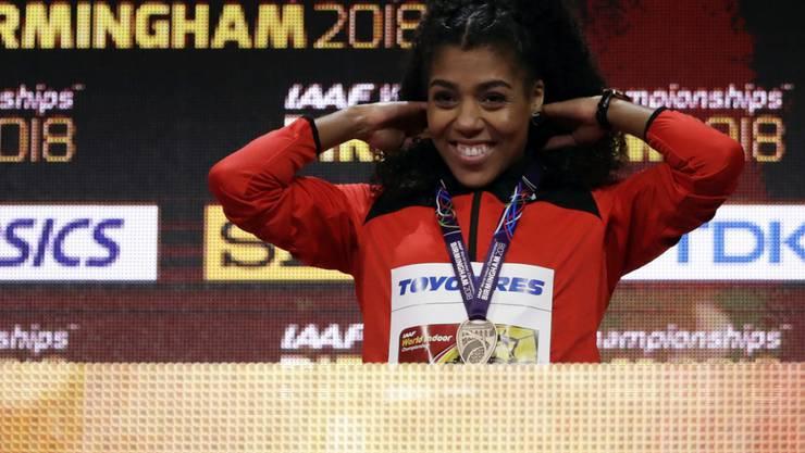 Höhepunkt vor einem Monat: Mujinga Kambundji gewann an der Hallen-WM über 60 m die Bronzemedaille
