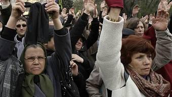Proteste gegen Woronin in Chisinau