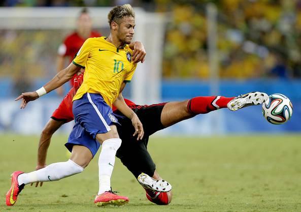 Neymar kämpfte und hatte einige Grosschancen