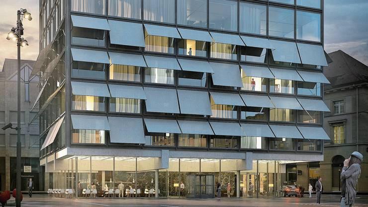 So sah der neue Aarauerhof im 2019 präsentierten Studienwettbewerb (Beitrag von :mlzd Architekten) aus.