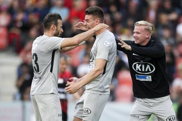 Nach 45 Minuten führt der FC Aarau gegen Xamax mit 3:0.