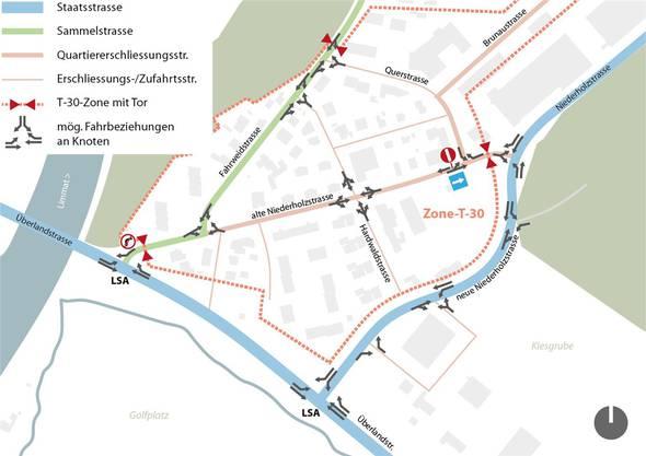 Am Rand vorbei statt mittendurch: Mindestens vier Jahre dauert es noch, bis die Niederholzstrasse verlegt wird. ZVG