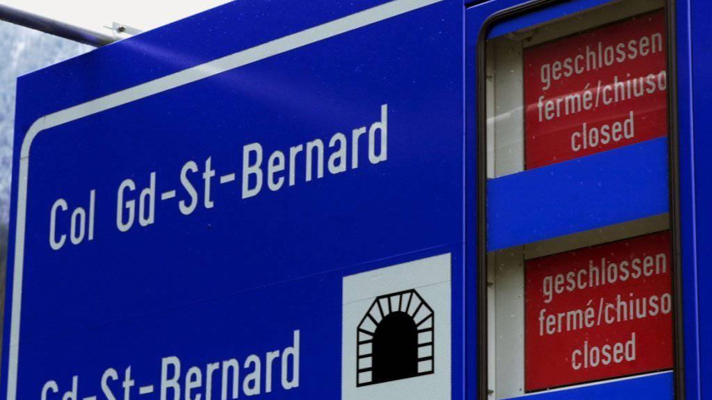 Tunnel am Grossen St. Bernhard bis Mitte Januar zu