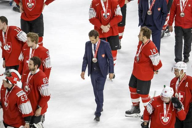 An der WM in Kopenhagen hatten sich die Schweizer Eishockeyspieler die Silbermedaille geholt.
