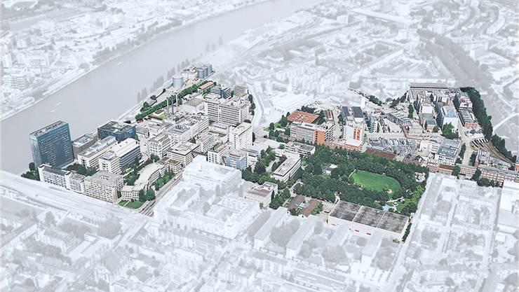 Klybeck: Wo Jahrzehnte die Industrie dominierte, soll ein neuer Stadtteil entstehen.